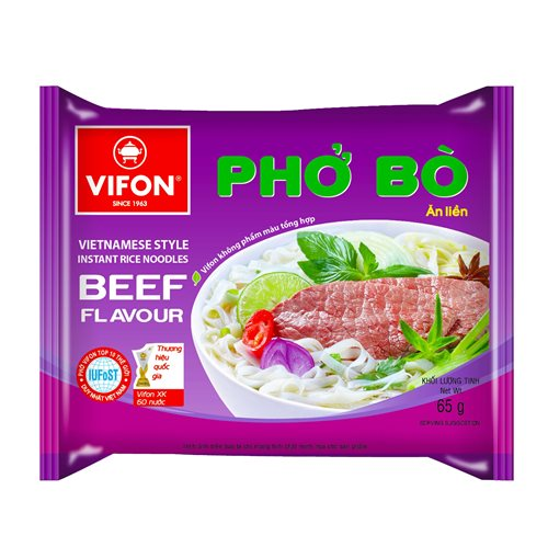 Picture of VN Instant Rice Noodle Beef Flavor Pho Bo