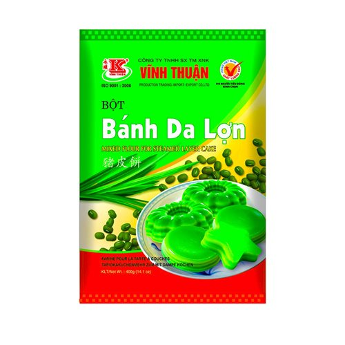 Picture of VN Mixed Flour Steamed Layer Cake- Bot Bánh Da Lon