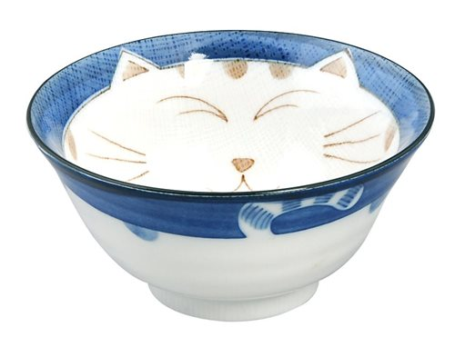 Picture of JP Cat Bowl Tayo Blue 13.5x6.8cm