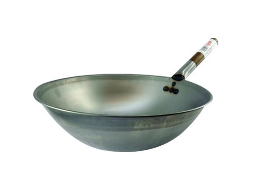 Picture of GB Deep Rolled Edge Wok Medium Weight 33cm