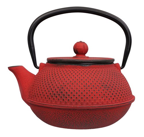Picture of CN Arare Tea Kettle Iron Red 17.5x15x10cm (0.8ltr)