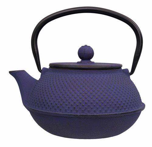 Picture of CN Arare Tea Kettle Iron Blue 17.5x15x10cm 0.8ltr