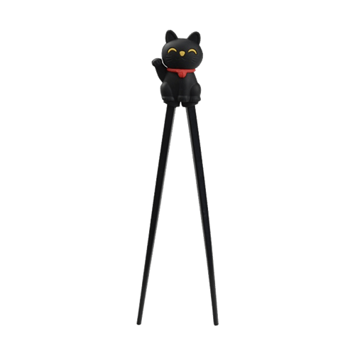 Picture of CN Lucky Cat Black 22cm