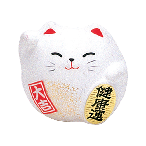Picture of JP Lucky Cat - Saving Pig White (Healthy) 5.5cm