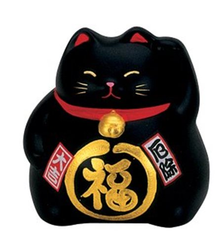 Picture of JP Lucky Cat Black (Against Bad Luck) 9cm