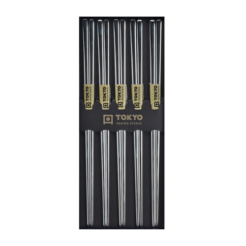 Picture of JP Chopsticks Stainless Steel Silver - 5pair