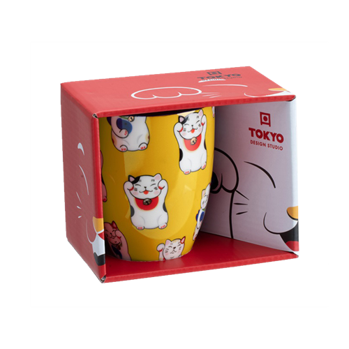 Picture of JP Mug Giftbox Lucky Cat Classic Yellow - 380ml.