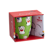Picture of JP Lucky Cat Mug Giftbox Green 380ml.