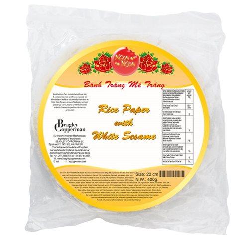 Picture of VN White Sesame Cracker 22cm (Me trang)