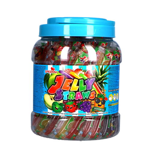 Picture of TW Assorted Jelly Straws in Jar