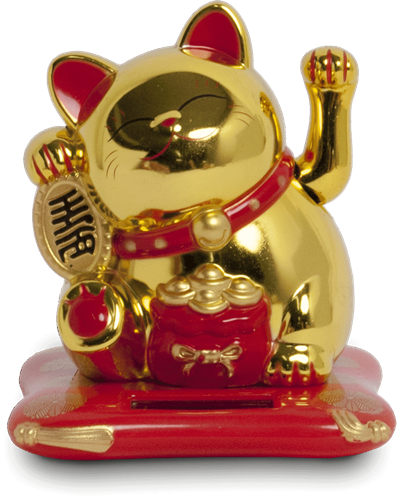 Picture of CN Lucky Cat Gold - Solar 9x10x10,5cm
