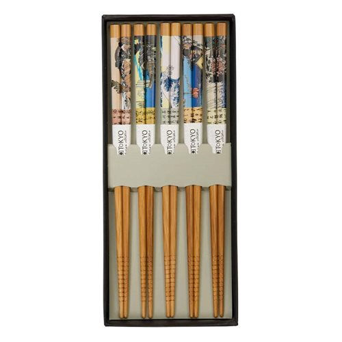 Picture of CN Chopstick Woodblock - 5 pair